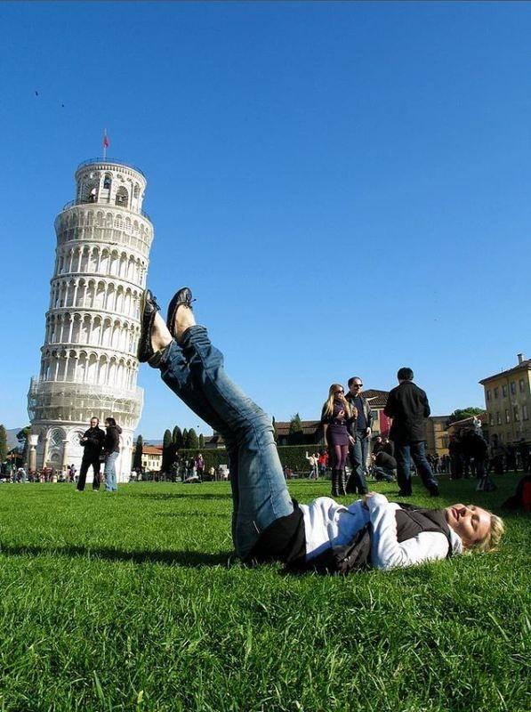 """Yaratıcı """"Pisa Kulesi"""" pozları! galerisi resim 9"""