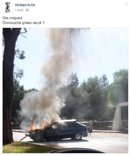 İki farklı araç, iki farklı yerde yandı! galerisi resim 3