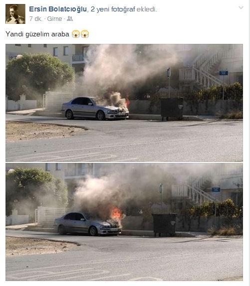 İki farklı araç, iki farklı yerde yandı! galerisi resim 4