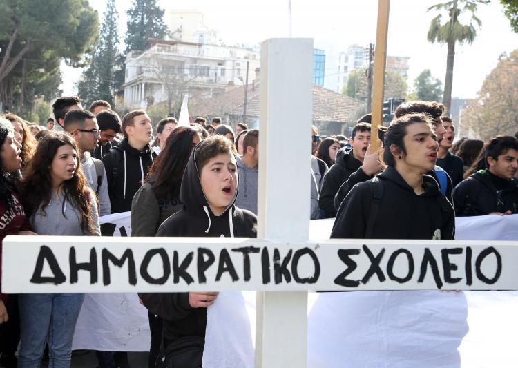 Fotoğraflarla güney Lefkoşa'daki öğrenci eylemi galerisi resim 12