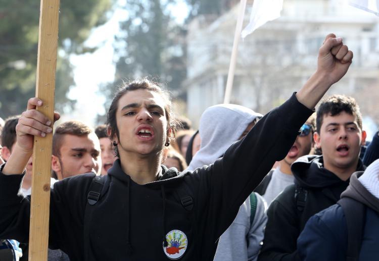 Fotoğraflarla güney Lefkoşa'daki öğrenci eylemi galerisi resim 4