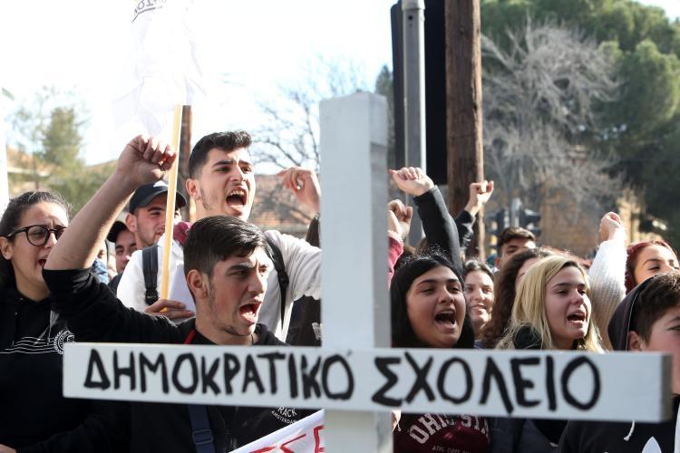 Fotoğraflarla güney Lefkoşa'daki öğrenci eylemi galerisi resim 6