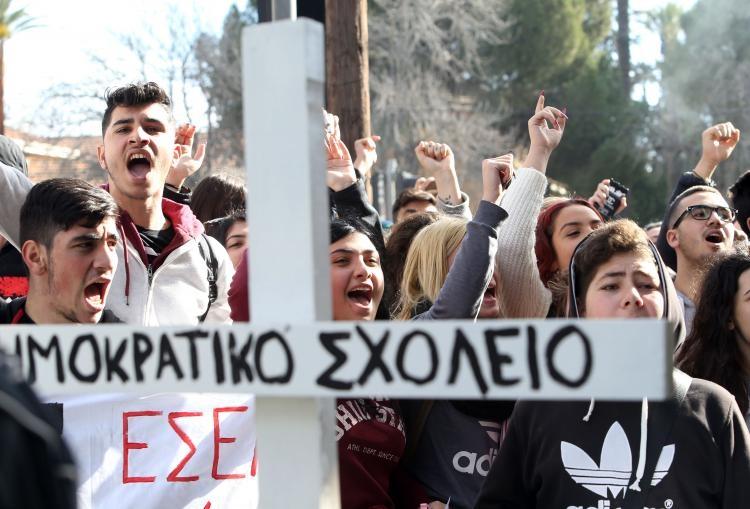 Fotoğraflarla güney Lefkoşa'daki öğrenci eylemi galerisi resim 9