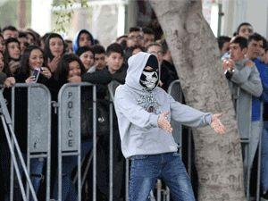 Fotoğraflarla güney Lefkoşa'daki öğrenci eylemi