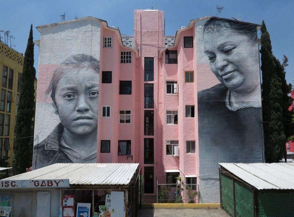 Siloları, binaları tuval yapan sanatçı galerisi resim 2