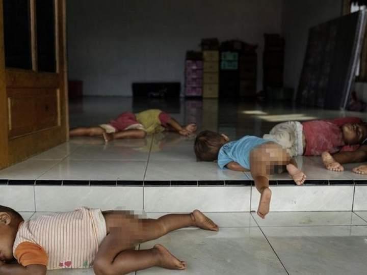 Endonezya'da insanlıktan utandıran görüntüler! galerisi resim 5