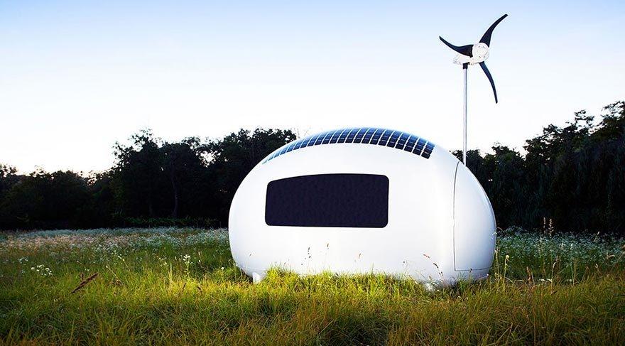 Güneş enerjisiyle çalışan modern çadır: Eko-kapsül galerisi resim 1