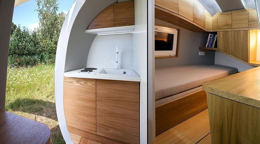 Güneş enerjisiyle çalışan modern çadır: Eko-kapsül galerisi resim 3