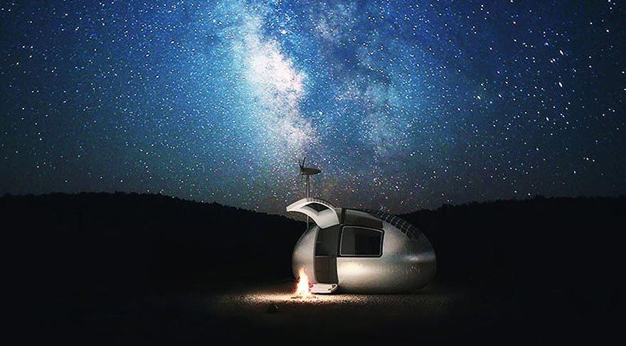 Güneş enerjisiyle çalışan modern çadır: Eko-kapsül galerisi resim 4