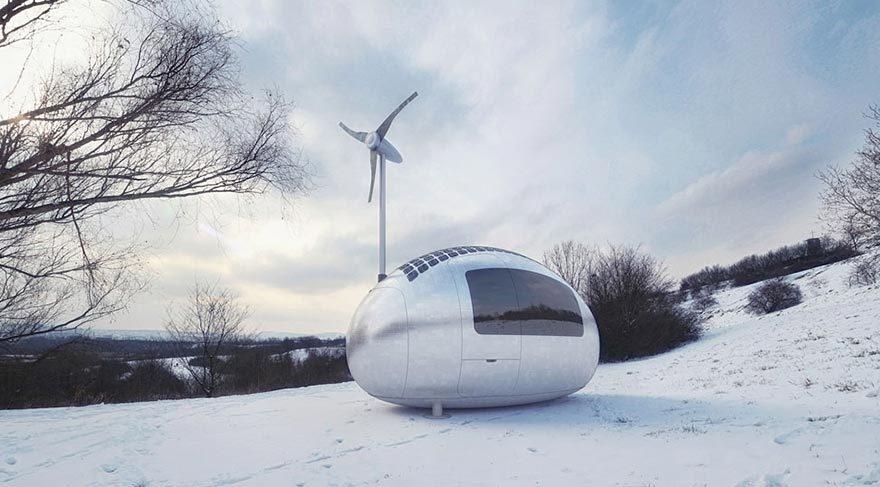 Güneş enerjisiyle çalışan modern çadır: Eko-kapsül galerisi resim 5
