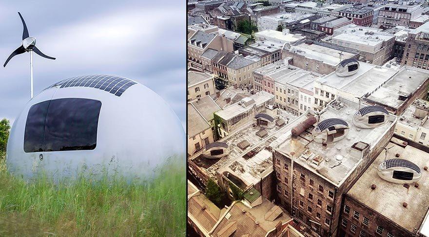 Güneş enerjisiyle çalışan modern çadır: Eko-kapsül galerisi resim 7