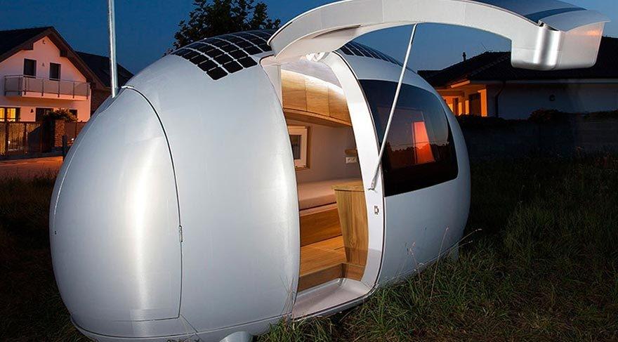 Güneş enerjisiyle çalışan modern çadır: Eko-kapsül galerisi resim 9