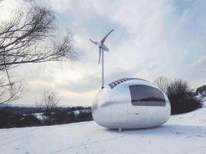 Güneş enerjisiyle çalışan modern çadır: Eko-kapsül