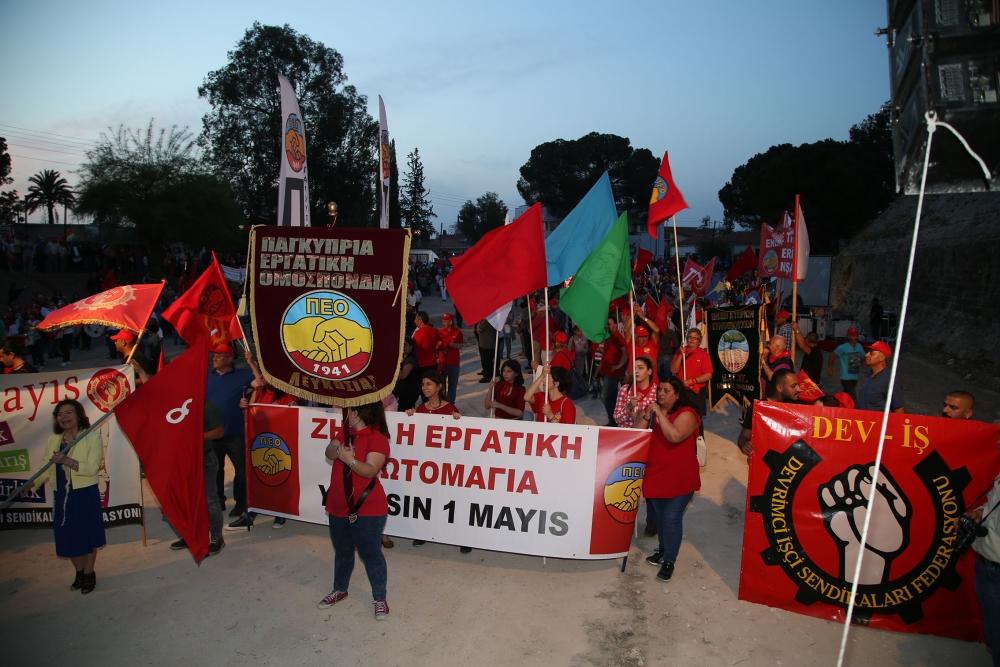 """Çetinkaya'da ortak 1 Mayıs: """"Hade iki toplumlu greve!"""" galerisi resim 9"""