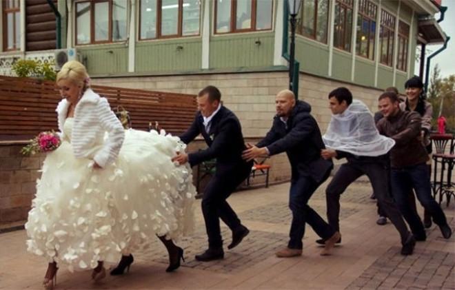 Rus düğünlerinde fotoğraf manyaklıkları galerisi resim 11