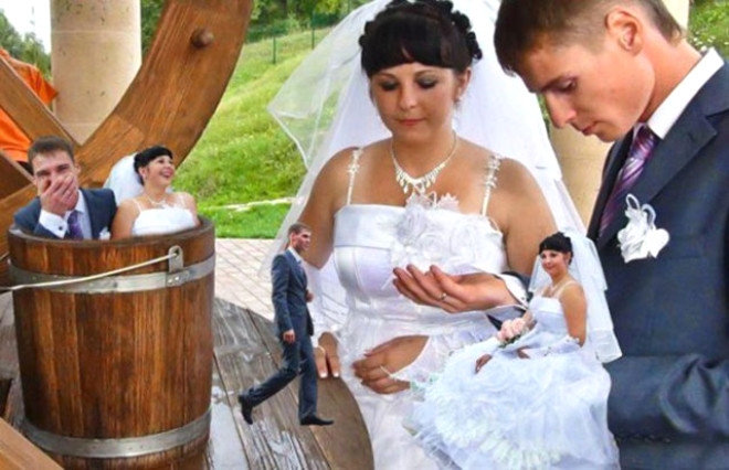 Rus düğünlerinde fotoğraf manyaklıkları galerisi resim 15