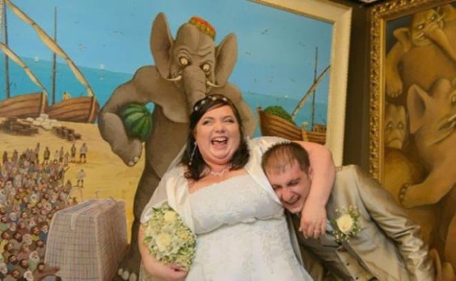 Rus düğünlerinde fotoğraf manyaklıkları galerisi resim 27