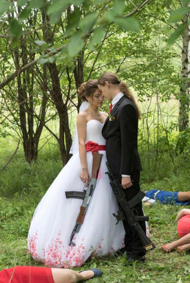 Rus düğünlerinde fotoğraf manyaklıkları galerisi resim 40