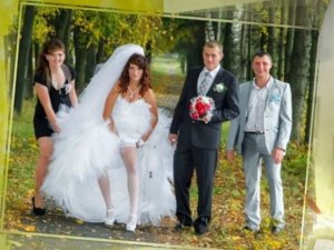Rus düğünlerinde fotoğraf manyaklıkları