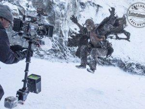 İşte Game of Thrones'un bugüne kadar görülmemiş kamera arkası görüntüler