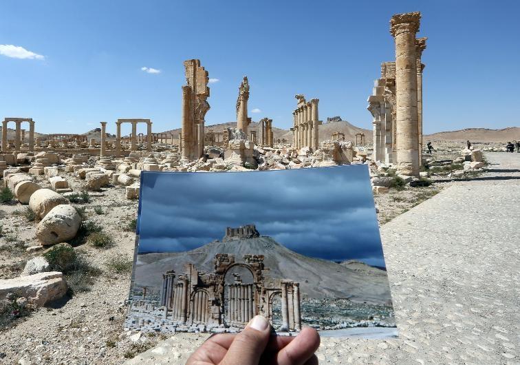 Antik kent Palmira'nın IŞİD'den öncesi ve sonrası galerisi resim 1