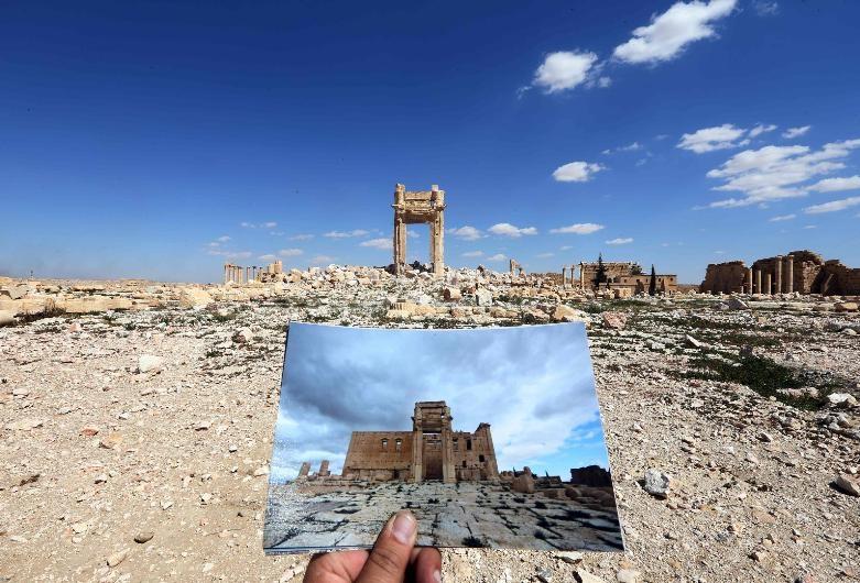 Antik kent Palmira'nın IŞİD'den öncesi ve sonrası galerisi resim 2