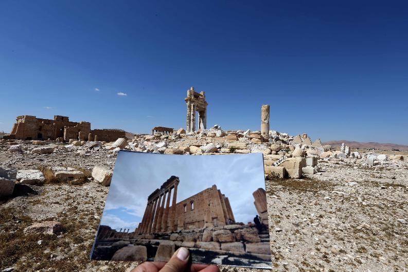 Antik kent Palmira'nın IŞİD'den öncesi ve sonrası galerisi resim 3