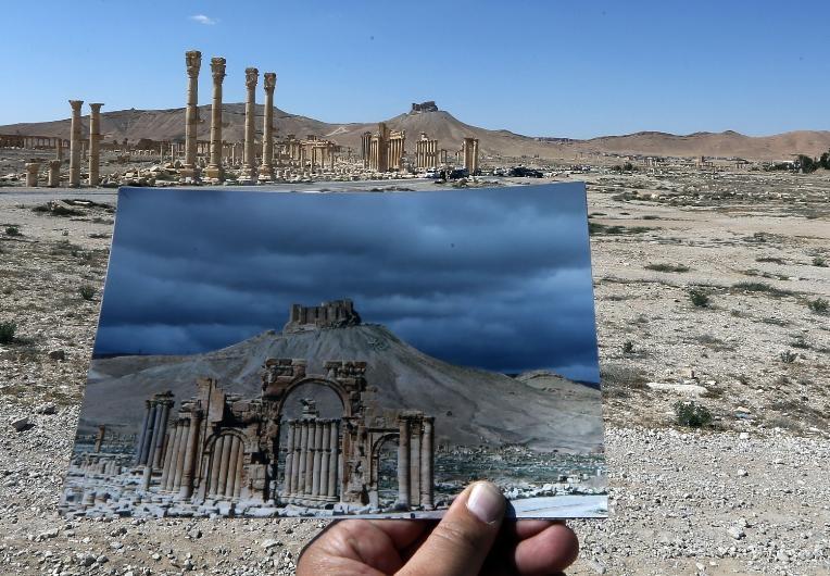 Antik kent Palmira'nın IŞİD'den öncesi ve sonrası galerisi resim 4