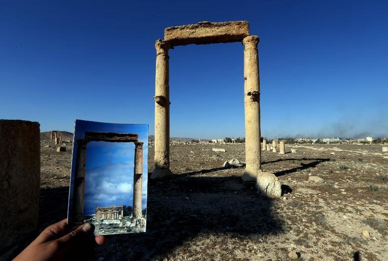 Antik kent Palmira'nın IŞİD'den öncesi ve sonrası galerisi resim 5