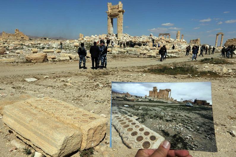 Antik kent Palmira'nın IŞİD'den öncesi ve sonrası galerisi resim 6