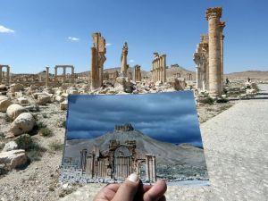 Antik kent Palmira'nın IŞİD'den öncesi ve sonrası