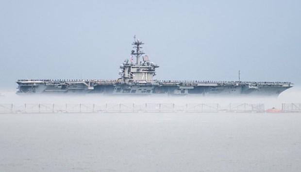 ABD 13 milyar dolarlık yeni uçak gemisiyle her yere 'barış' gö galerisi resim 1