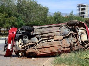 Lefkoşa'da dehşet kaza..