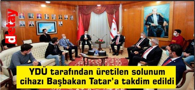 YDÜ tarafından üretilen solunum cihazı Başbakan Tatar'a takdim edildi