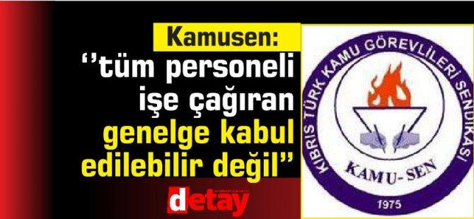 """Kamu-sen: """"Çalışma Bakanlığı'nın tüm personeli işe çağıran genelgesi kabul edilebilir değil"""""""