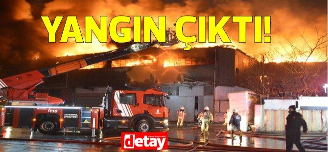 Haspolat, Sanayi mevkiinde yangın meydana geldi...