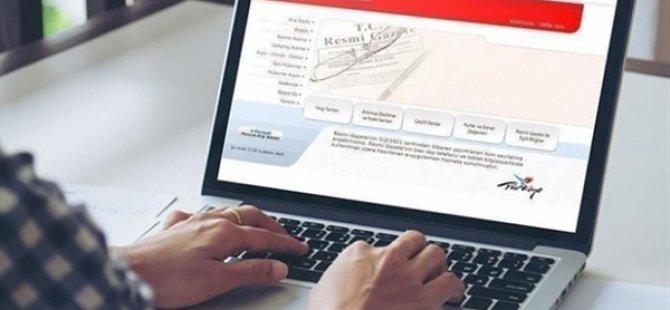 'Türkiye Cumhuriyeti hükümeti İle KKTC hükümeti arasında Veri Paylaşımına İlişkin İşbirliği Uygulama Protokolü' TC Resmi Gazetesi'nde