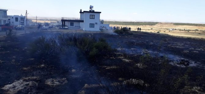Serdarlı'da arazi yangını