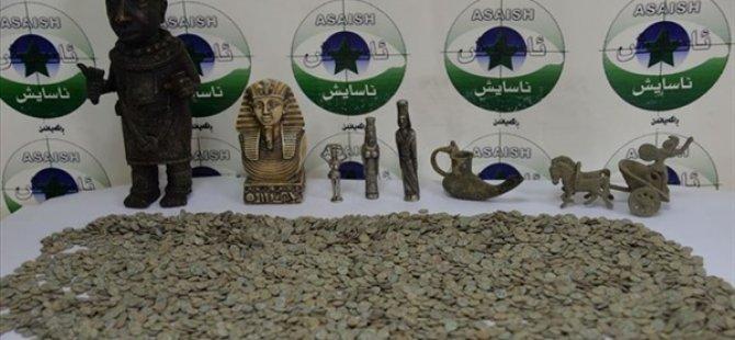IKBY'de 5 bin adet sikke ve 7 tarihi eser ele geçirildi