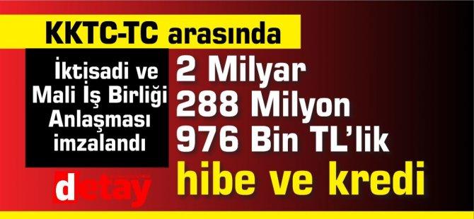 TC'den 2 Milyar 288 Milyon 976 Bin TL'lik hibe ve kredi