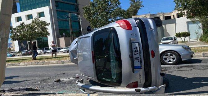 Lefkoşa'da kaza! bir kişi ağır yaralandı