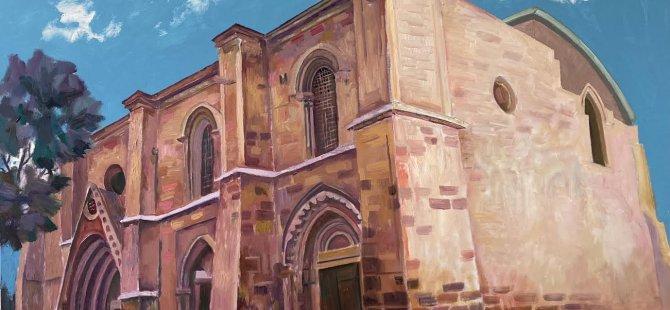 Kıbrıs'ın turistik, tarihi ve turistik mekanlarını tuvale resmetti.