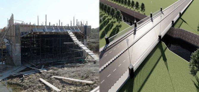 Gönyeli'de 'Özgürlük Köprüsü' inşaatı ilerliyor