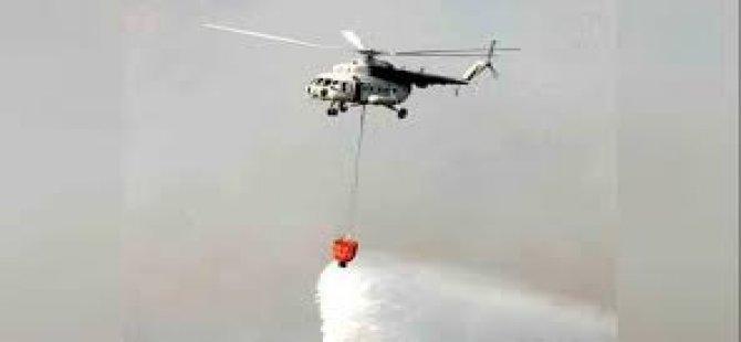 """""""Güneyden gelen üç uçakla bir helikopter bölgedeki söndürme çalişmalarına başladı"""""""