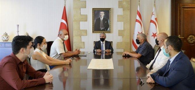 Cumhurbaşkanı Akıncı, Kuzey Kıbrıs Satranç Federasyonu Heyetini Kabul Etti