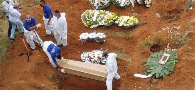 Kovid-19'dan Bir Günde Brezilya'da 1290 Kişi Öldü
