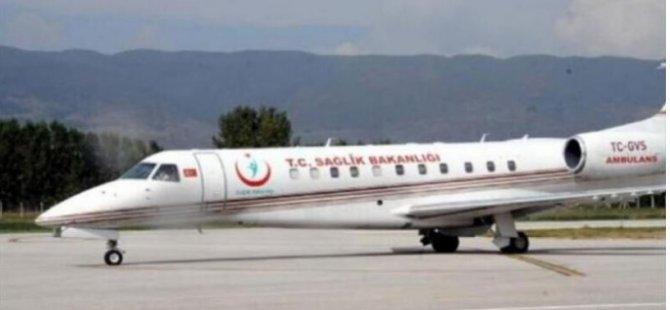 Suudi Arabistan'da Covid-19'a yakalanan çift ambulans uçakla Türkiye'ye getirildi