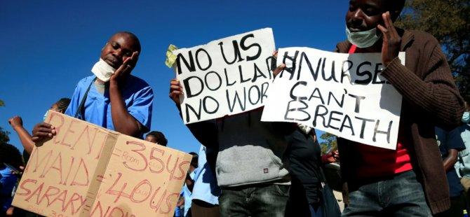 Hükûmet yetkililerine milyonlarca dolarlık lüks araç alınan Zimbabwe'de sağlık çalışanları grevde: Enflasyon yüzde 785'i buldu