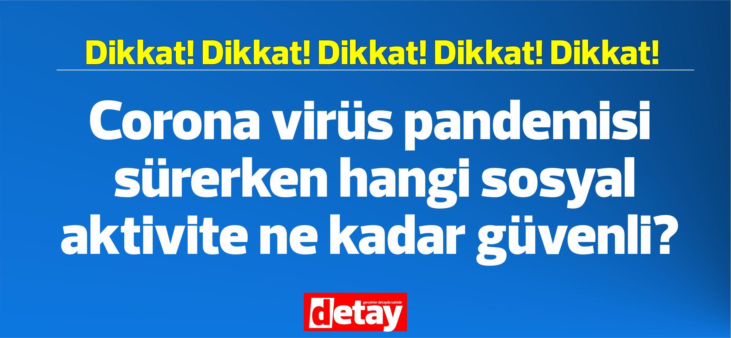 Corona virüs pandemisi sürerken hangi sosyal aktivite ne kadar güvenli?
