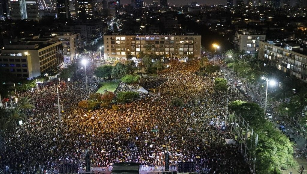 İsrail'de Netanyahu karşıtı gösteri